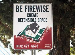 Image result for create defensible space signs