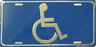 Image result for handicapped license plate