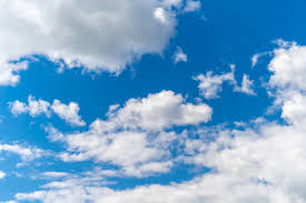 Premium Photo | Clear blue sky with white clouds, background