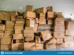 Pile of cardboard boxes editorial photo. Image of cardboard - 144900646